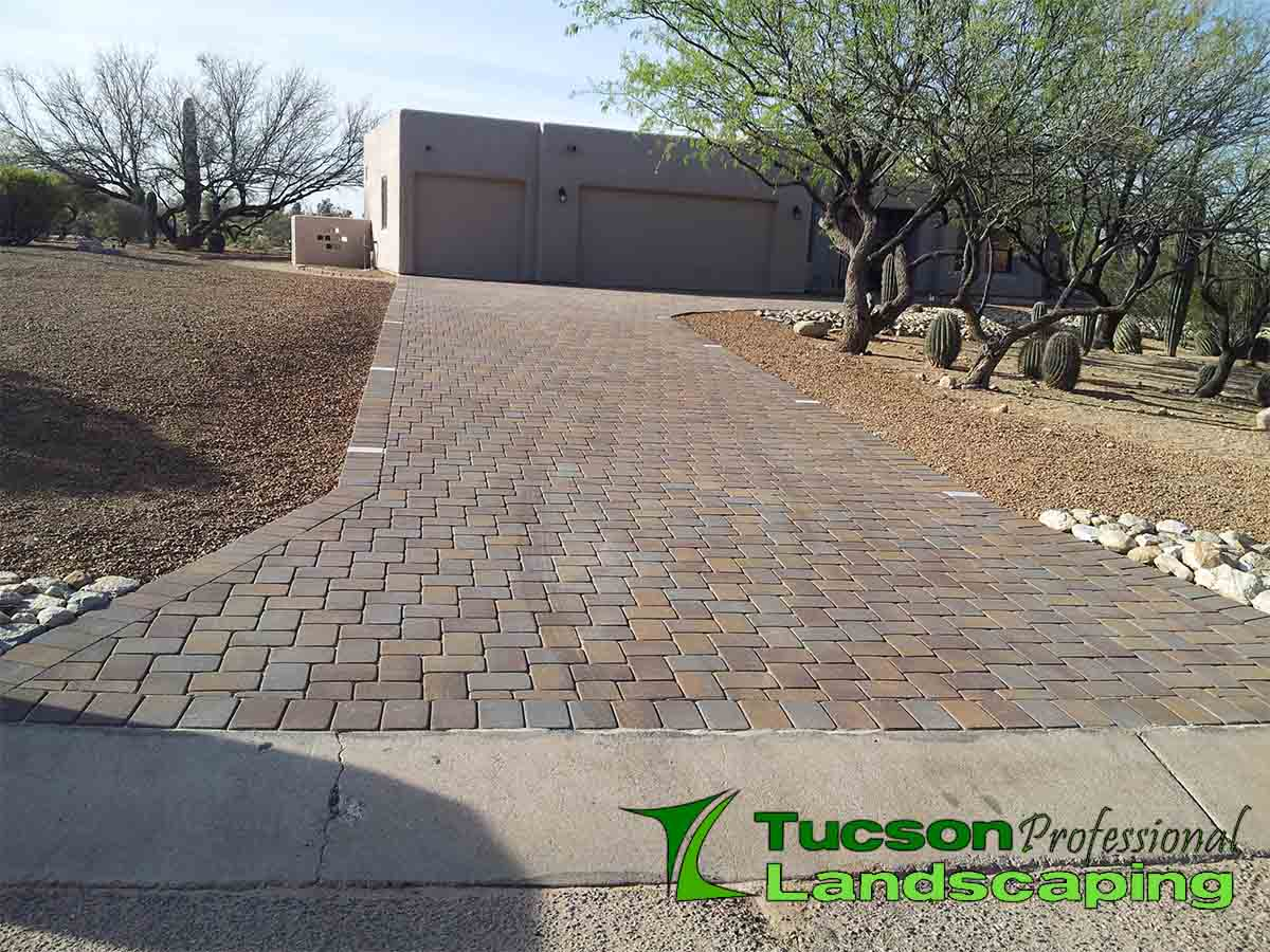 Landscaping Pavers Tucson : Paver driveway in tucson az professional landscaping